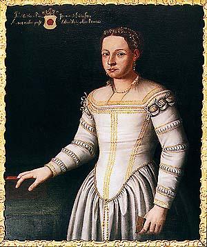 Portrét Perchty z Rožmberka - tzv. Bílé paní