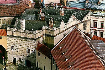 Castle no. 46 - New Pharmacy - view from I. courtyard of Český Krumlov Castle