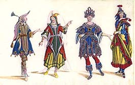 Costume design by L. O. Burnacini