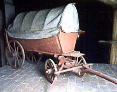 Theatre props - cart, depository of the Český Krumlov Castle Theatre