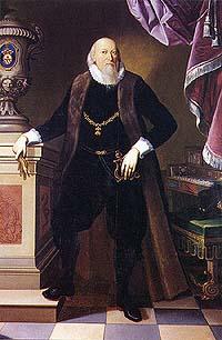 Petr Vok z Rožmberka, portrét v životní velikosti, Charles Louis Philippot, 19. století
