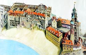 Senzitivní mapa zámku v Českém Krumlově, zdroj: Vydavatelství MCU