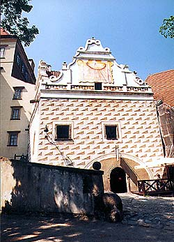 Castle no. 59 - Dairy, facade from II. courtyard of the Český Krumlov Castle