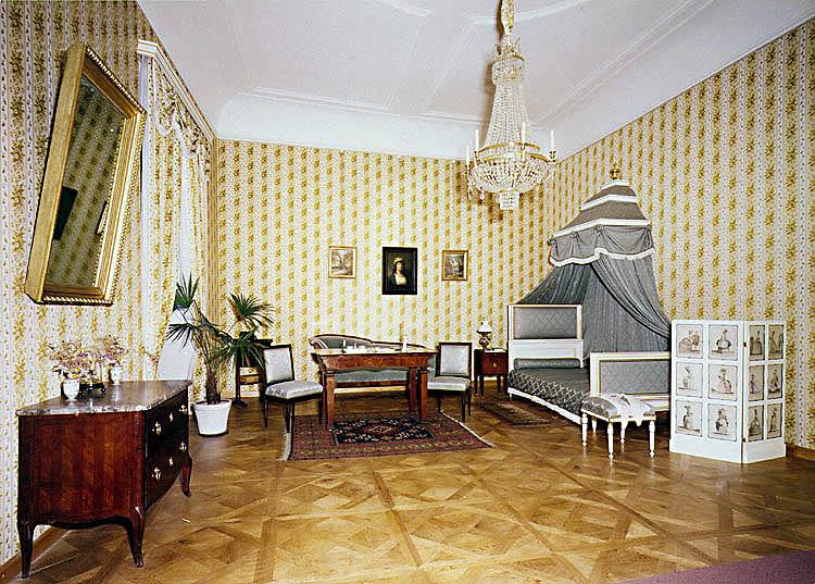 Schloss Český Krumlov, Appartement aus dem 19. Jahrhundert, Schlafzimmer