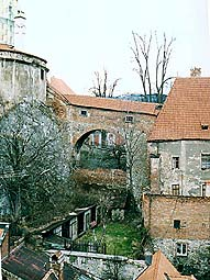 Český Krumlov Castle, Connecting Corridor, section at the Bear Moat on the 1st Castle courtyard
