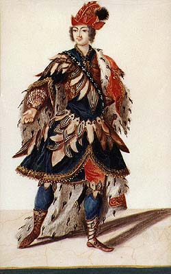 Schwarzenberg collection of theatralia and theatre repertoir, costume design, middle 18th century