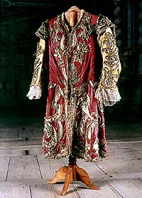Costumes and props of Castle Theatre in Český Krumlov, theatre costume, around 1740