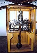 Restored tower clock in the Český Krumlov Castle Tower, machine which activates the quarter-hourly signal, made by Ludwig Heinz in 1917, foto: Martin Švamberk