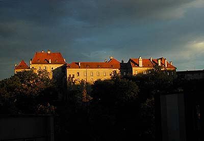 Český Krumlov Castle, view from the northern side - the magical atmosphere of early evening…, foto: Zdena Flašková