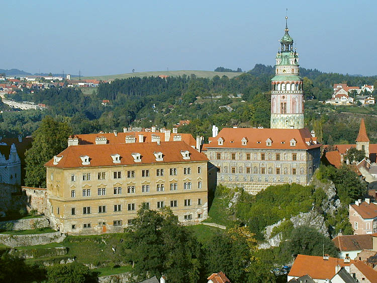 Český Krumlov Castle, view onto the Mint and Little Castle with the Castle Tower from the southern side, foto: Lubor Mrázek