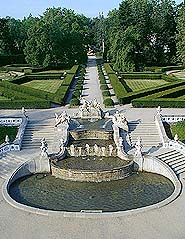 Zámecká zahrada v Českém Krumlově, kaskádová fontána