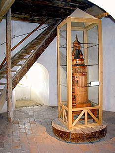 Castle no. 59 Castle Tower, interior with a model of the tower, foto: Stanislava Slavková