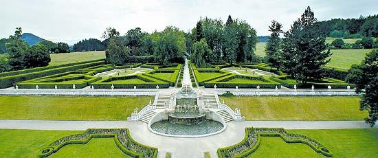 Zámecká zahrada v Českém Krumlově, panoramatický pohled, foto: Lubor Mrázek