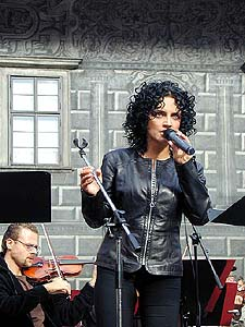 Lucie Bílá is rehersing for concert of musical melodies, International music festival, foto: Lubor Mrázek